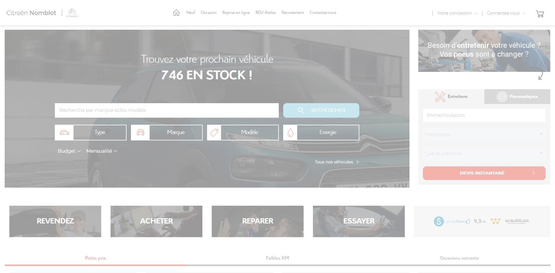 Citroën Nomblot : nouvelle concession du groupe Nomblot
